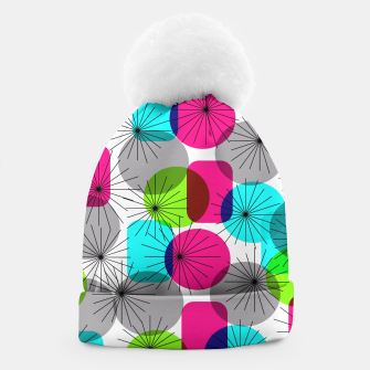 Thumbnail image of Bod Colorful Retro Geometric Star Bursts Beanie, Live Heroes