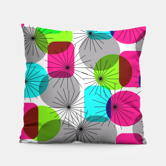Thumbnail image of Bod Colorful Retro Geometric Star Bursts Pillow, Live Heroes