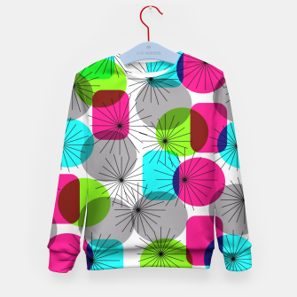 Thumbnail image of Bod Colorful Retro Geometric Star Bursts Kid's Sweater, Live Heroes