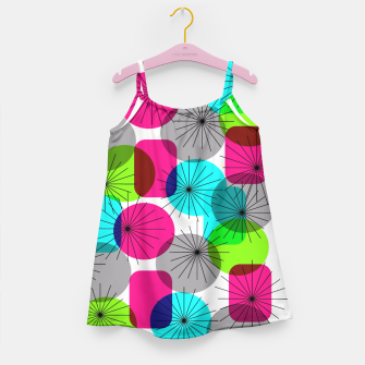 Thumbnail image of Bod Colorful Retro Geometric Star Bursts Girl's Dress, Live Heroes