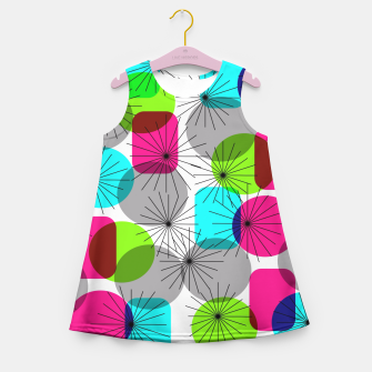 Thumbnail image of Bod Colorful Retro Geometric Star Bursts Girl's Summer Dress, Live Heroes