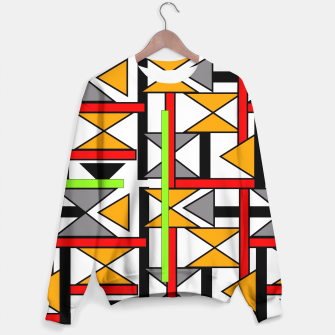 Thumbnail image of Geometric Abstract Funky Colorful Print Sweater, Live Heroes
