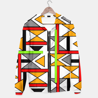 Thumbnail image of Geometric Abstract Funky Colorful Print Hoodie, Live Heroes