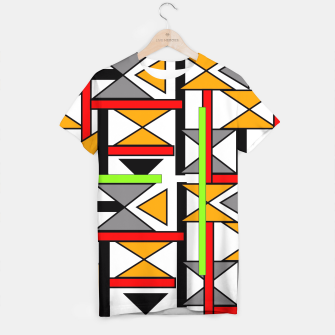 Thumbnail image of Geometric Abstract Funky Colorful Print T-shirt, Live Heroes