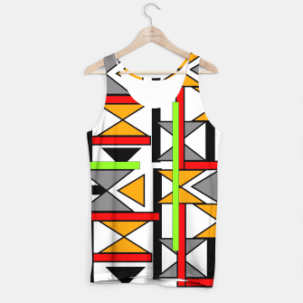 Thumbnail image of Geometric Abstract Funky Colorful Print Tank Top, Live Heroes