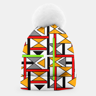 Thumbnail image of Geometric Abstract Funky Colorful Print Beanie, Live Heroes