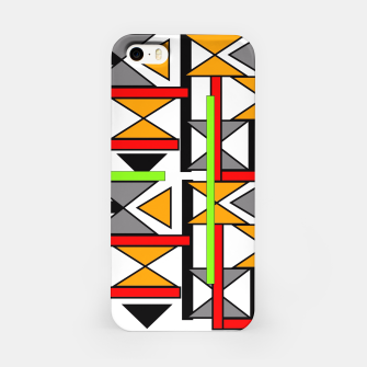 Thumbnail image of Geometric Abstract Funky Colorful Print iPhone Case, Live Heroes