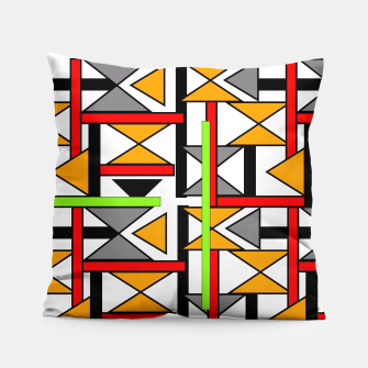 Thumbnail image of Geometric Abstract Funky Colorful Print Pillow, Live Heroes