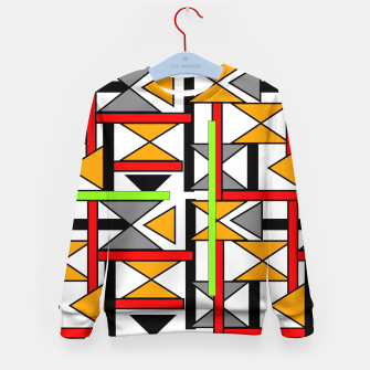 Thumbnail image of Geometric Abstract Funky Colorful Print Kid's Sweater, Live Heroes