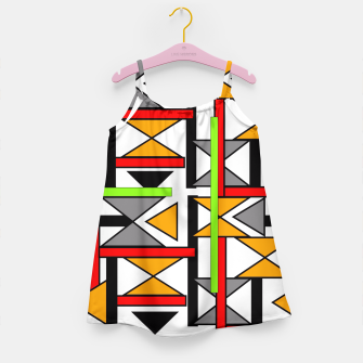 Thumbnail image of Geometric Abstract Funky Colorful Print Girl's Dress, Live Heroes