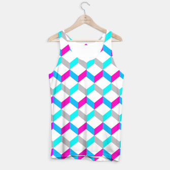 Thumbnail image of Bold Modern Geometric Optical Cubes Print Tank Top, Live Heroes