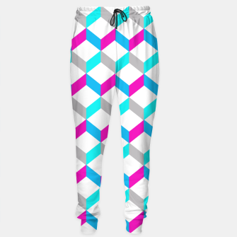 Thumbnail image of Bold Modern Geometric Optical Cubes Print Sweatpants, Live Heroes