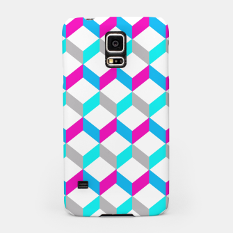 Thumbnail image of Bold Modern Geometric Optical Cubes Print Samsung Case, Live Heroes