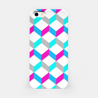 Thumbnail image of Bold Modern Geometric Optical Cubes Print iPhone Case, Live Heroes