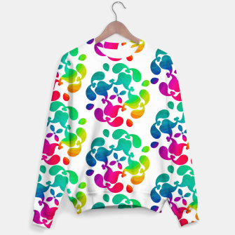 Thumbnail image of Ombre Rainbow Flowery Paisley Pattern Sweater, Live Heroes