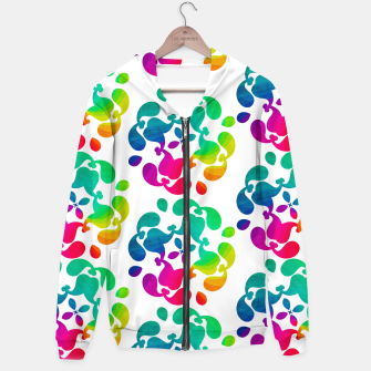 Thumbnail image of Ombre Rainbow Flowery Paisley Pattern Hoodie, Live Heroes
