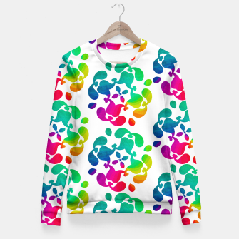Thumbnail image of Ombre Rainbow Flowery Paisley Pattern Fitted Waist Sweater, Live Heroes