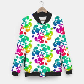 Thumbnail image of Ombre Rainbow Flowery Paisley Pattern Baseball Jacket, Live Heroes
