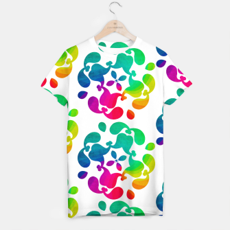 Thumbnail image of Ombre Rainbow Flowery Paisley Pattern T-shirt, Live Heroes