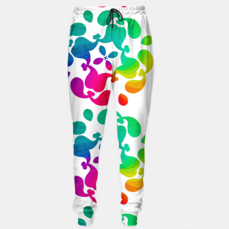 Thumbnail image of Ombre Rainbow Flowery Paisley Pattern Sweatpants, Live Heroes