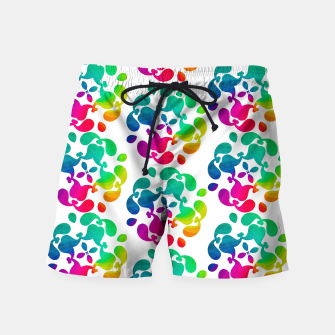 Thumbnail image of Ombre Rainbow Flowery Paisley Pattern Swim Shorts, Live Heroes