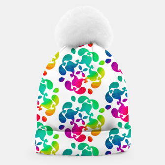 Thumbnail image of Ombre Rainbow Flowery Paisley Pattern Beanie, Live Heroes