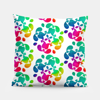 Thumbnail image of Ombre Rainbow Flowery Paisley Pattern Pillow, Live Heroes