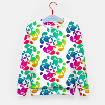 Thumbnail image of Ombre Rainbow Flowery Paisley Pattern Kid's Sweater, Live Heroes