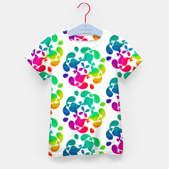 Thumbnail image of Ombre Rainbow Flowery Paisley Pattern Kid's T-shirt, Live Heroes