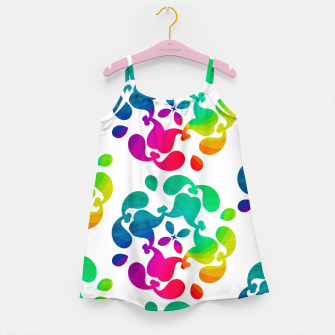 Thumbnail image of Ombre Rainbow Flowery Paisley Pattern Girl's Dress, Live Heroes
