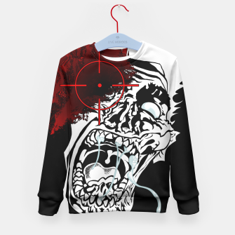 Thumbnail image of Zombie Survivalist Kid's Sweater, Live Heroes