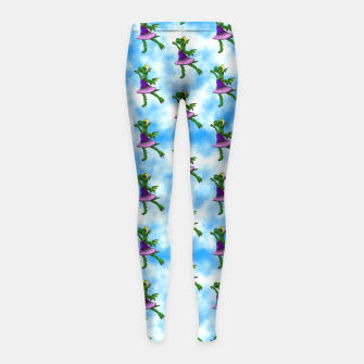 Thumbnail image of Ballet Dragon Girl's Leggings, Live Heroes
