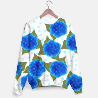 Thumbnail image of Blue Hydrangeas Floral Print  Sweater, Live Heroes