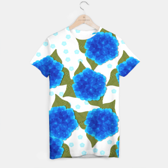 Thumbnail image of Blue Hydrangeas Floral Print  T-shirt, Live Heroes