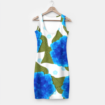 Thumbnail image of Blue Hydrangeas Floral Print  Simple Dress, Live Heroes