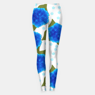 Thumbnail image of Blue Hydrangeas Floral Print  Leggings, Live Heroes