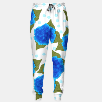 Thumbnail image of Blue Hydrangeas Floral Print  Sweatpants, Live Heroes