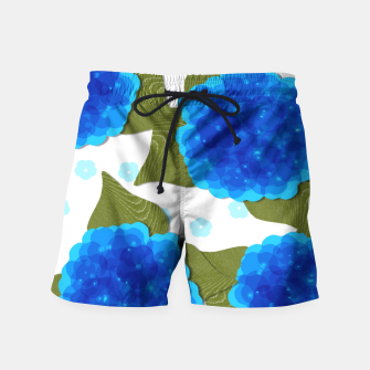 Thumbnail image of Blue Hydrangeas Floral Print  Swim Shorts, Live Heroes
