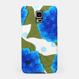 Thumbnail image of Blue Hydrangeas Floral Print  Samsung Case, Live Heroes