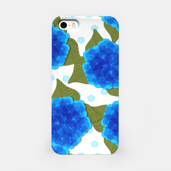 Thumbnail image of Blue Hydrangeas Floral Print  iPhone Case, Live Heroes