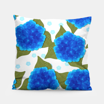 Thumbnail image of Blue Hydrangeas Floral Print  Pillow, Live Heroes
