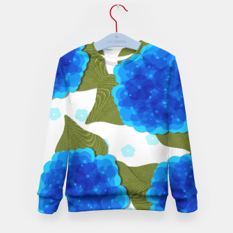 Thumbnail image of Blue Hydrangeas Floral Print  Kid's Sweater, Live Heroes