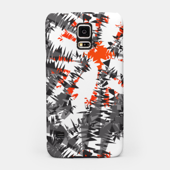Orange Grey Mix Ikat Abstract Print Samsung Case thumbnail image