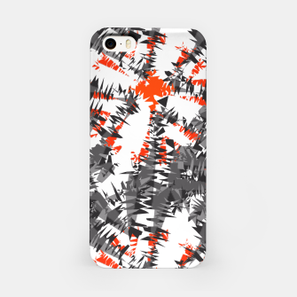 Orange Grey Mix Ikat Abstract Print iPhone Case thumbnail image