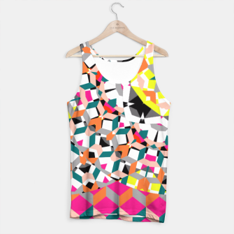 Thumbnail image of Geometric Spliced Pattern Mix Tank Top, Live Heroes