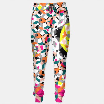 Thumbnail image of Geometric Spliced Pattern Mix Sweatpants, Live Heroes