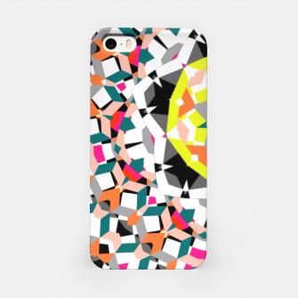 Thumbnail image of Geometric Spliced Pattern Mix iPhone Case, Live Heroes
