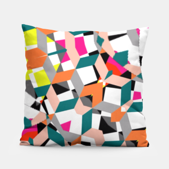 Thumbnail image of Geometric Spliced Pattern Mix Pillow, Live Heroes