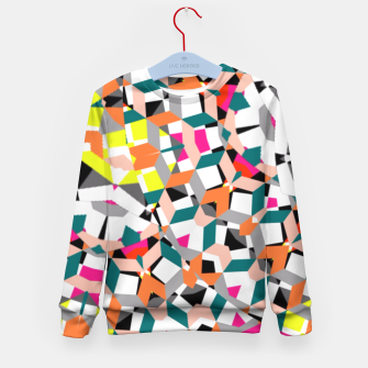 Thumbnail image of Geometric Spliced Pattern Mix Kid's Sweater, Live Heroes