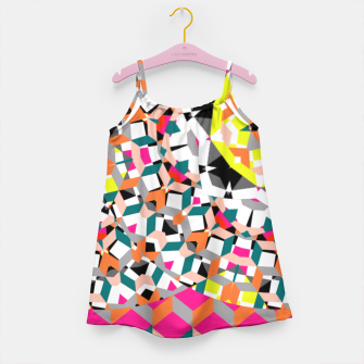 Thumbnail image of Geometric Spliced Pattern Mix Girl's Dress, Live Heroes